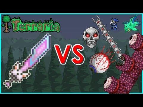 Terraria - Meowmere vs Bosses