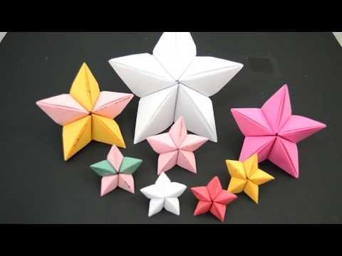 3d origami christmas star instructions