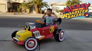 Unboxing Disney Mickey's Roadster Racer Battery Powered Ride On by Huffy