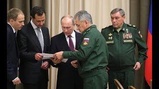 بوتين خلال تعريفه الأسد بالجنرالات الروس الذين أنقذوا سوريا: نهاية الإرهاب قريبة