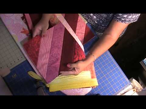 How to make a quilt as you go block, make a pouch, or small bag