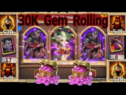 Castle Clash 30K Gem Rolling For Revenant