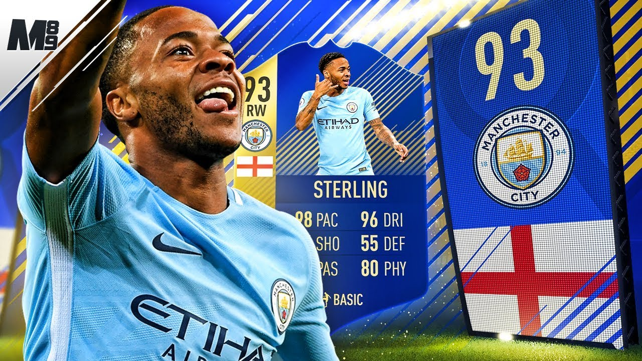 FIFA 18 TOTS STERLING REVIEW | 93 TOTS STERLING PLAYER REVIEW | FIFA ...