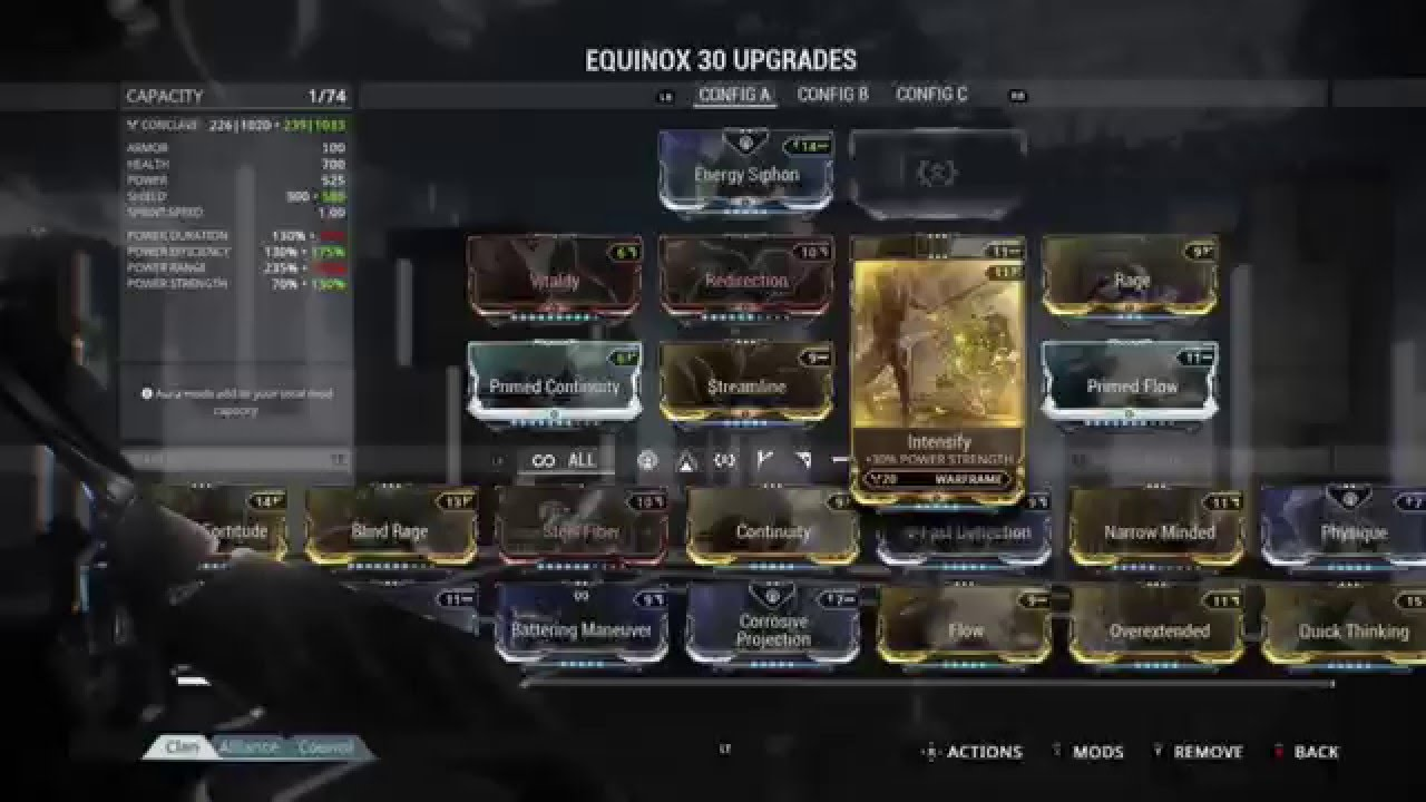 Equinox Build  Warframe