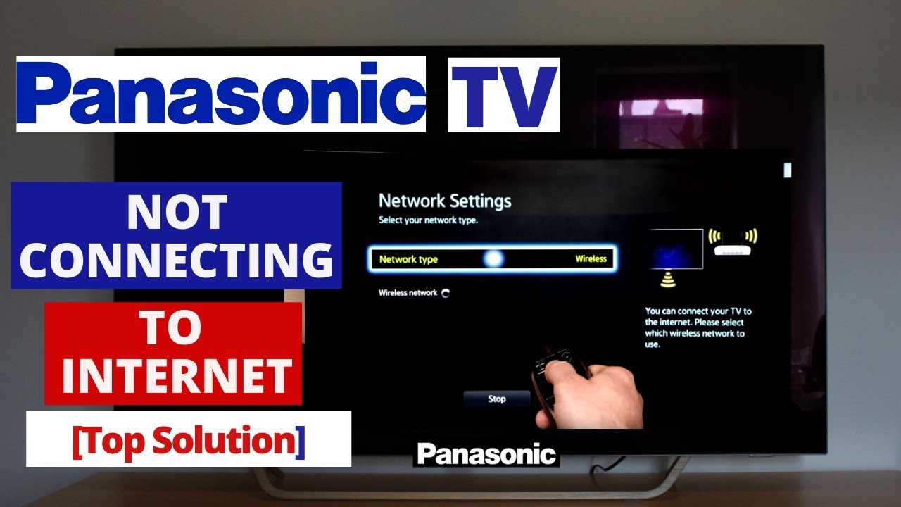 How to Fix Panasonic SMART TV Not Connecting to Internet || Panasonic TV  won't connect to Internet