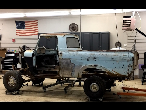 F100 To Crown Vic Frame Swap Ep.5 Finally Body Meets Frame!