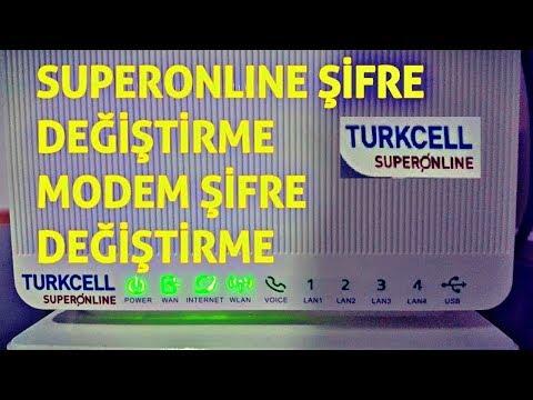 Superonline Wifi Şifresi Değiştirme (Modem Şifre Değiştirme) 2018