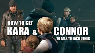 Detroit Become Human - Steps Needed To Get The Scene Where Connor Apologizes To Kara