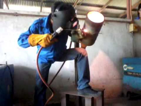 6g root pass welding smaw - YouTube