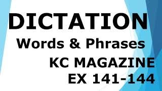 Dictation of Words from KC Mag…