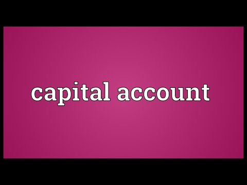 Capital account Meaning