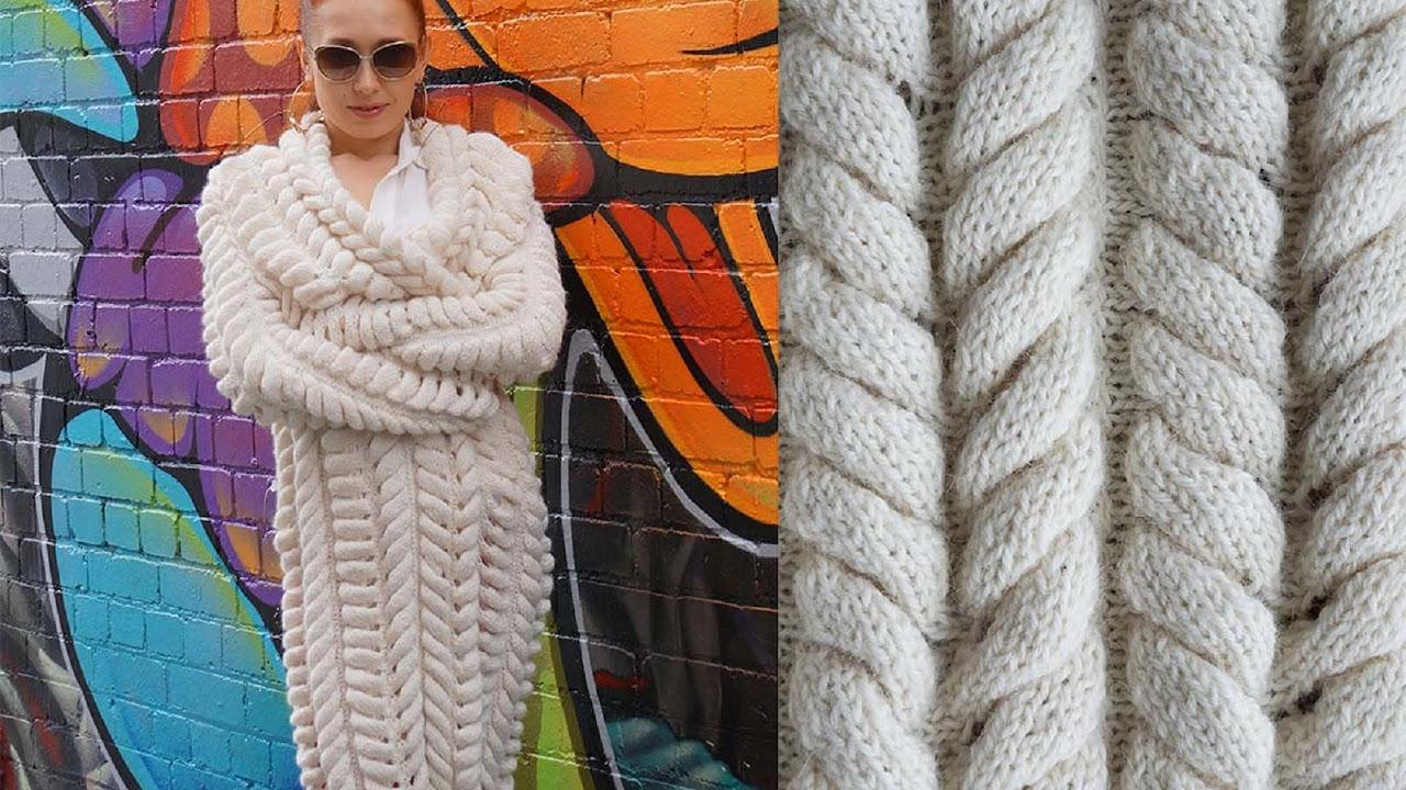 вязание туника расклешенная аранами схемы для женщин