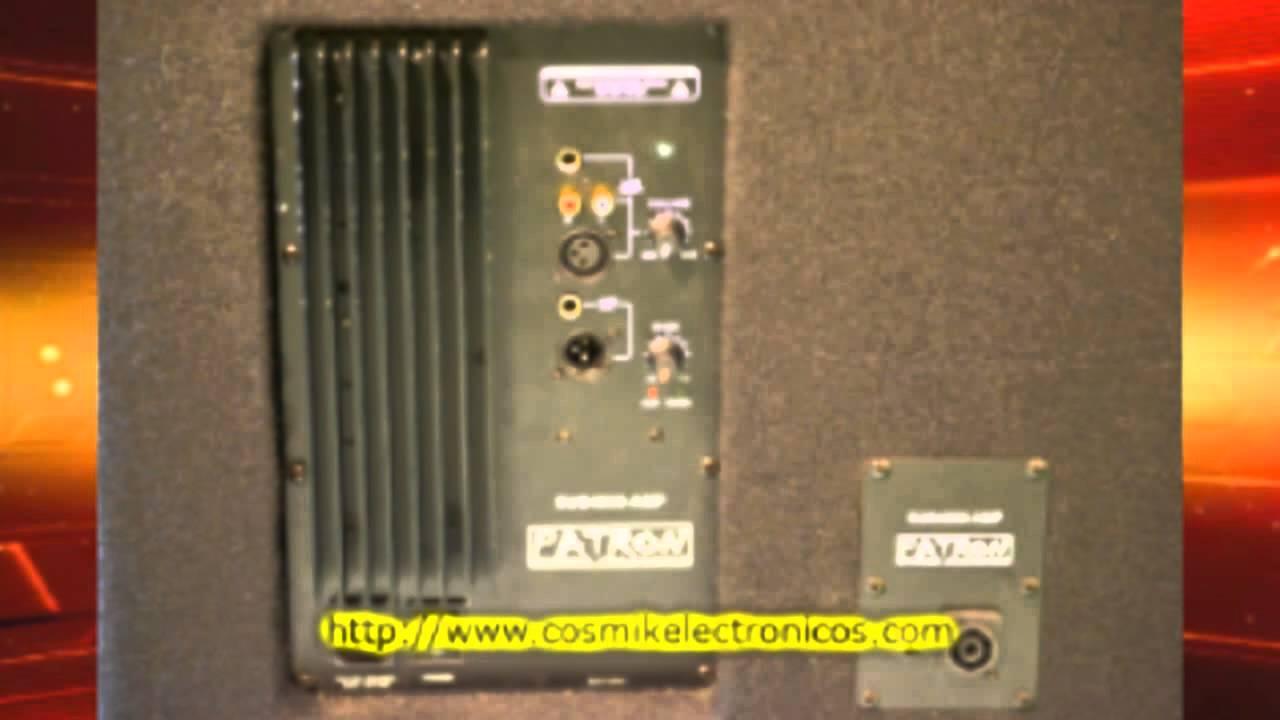 Bocinas Bajos Amplificados Cosmik Electronicos Subwoofer