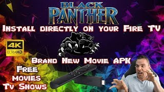 Black Panther✔ Brand new Movie Tv App🎯 Install directly on your fire tv