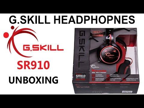 סקירה של אוזניות גיימרים 7 1 אמיתי UNBOXING | G Skill SR910