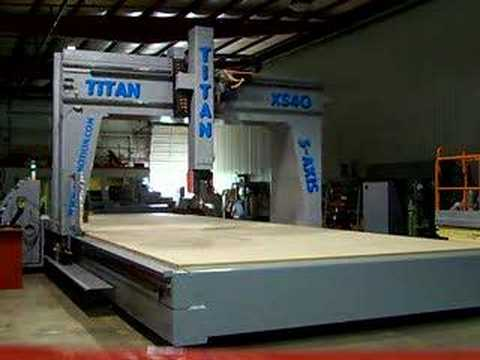 Titan 5 Axis Cnc Router For The Boat Industry Youtube