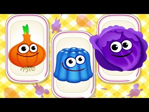 Thumbnail: Baby Learn Colors & Shapes with Foods 🍭 | Funny Food Kids Games for Preschool & Toddler