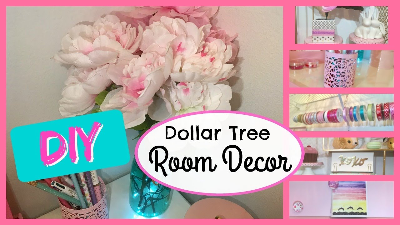 Dollar tree diy 2017 room decor cute and easy for Diy room decorations youtube