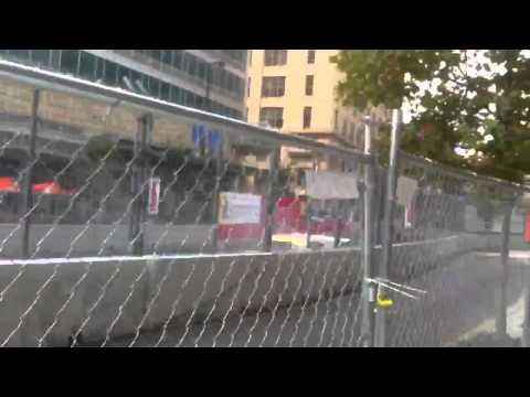 Close call crash at the Baltimore GP 2013