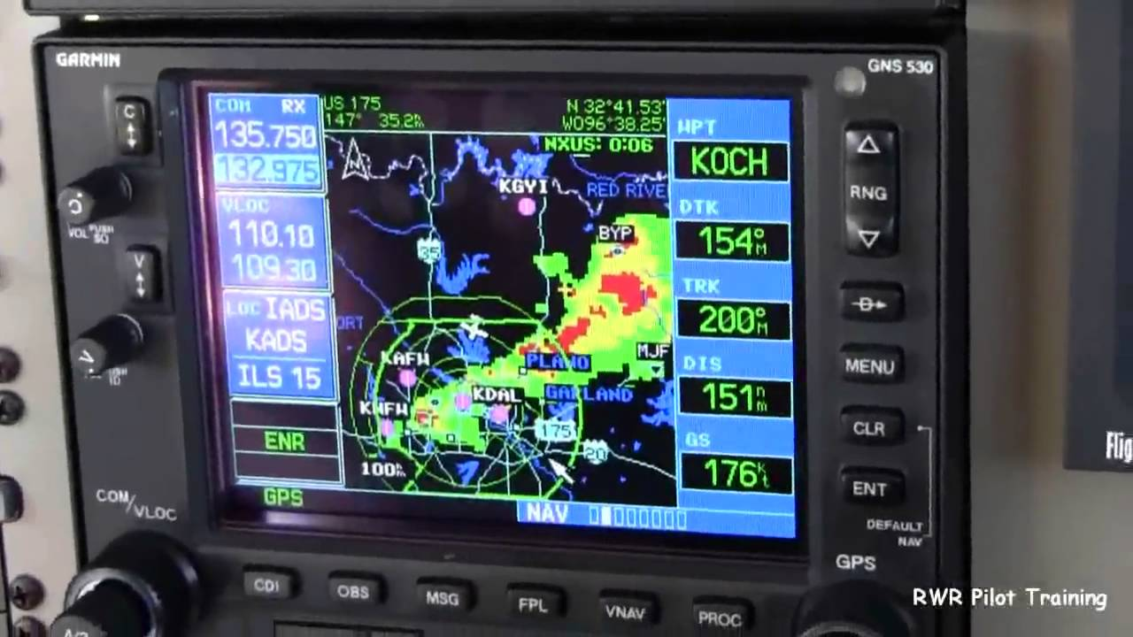 Using Weather Radar in the PA46 Aircraft -10051902 - YouTube