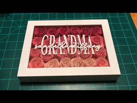DIY SHADOW BOX FRAME   MOTHER'S DAY GIFT   ARTS AND CRAFTS