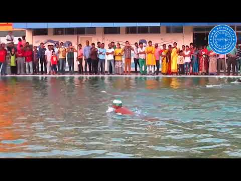 State level swimmers swim a different stroke in the newly inaugurated Swimming Pool of Baruipur.