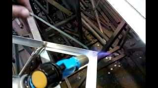 Сварка алюминия газовой горелкой без аргона(Отличное решение для производства нестандартных корпусов LED светильников., 2014-10-14T13:32:49.000Z)