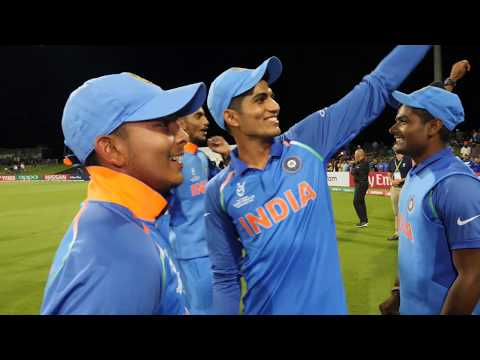 India celebrate winning the U19 Cricket World Cup