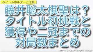 藤井聡太棋聖が王位戦で二冠になったらどれくらい早いかタイトルホルダーと比較した!