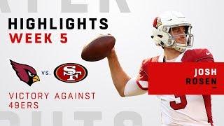 Josh Rosen Highlights vs. 49ers