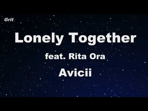 Lonely Together ft. Rita Ora - Avicii Karaoke 【No Guide Melody】 Instrumental