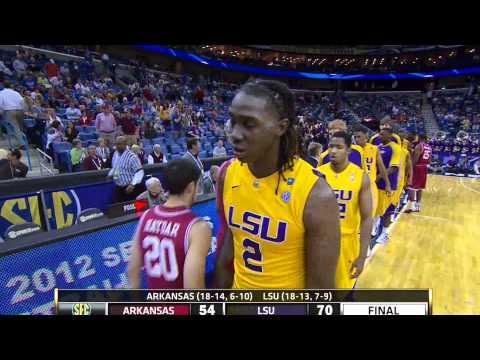 LSU beats Arkansas in 2012 SEC Tourney