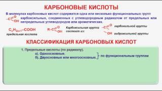 № 89. Органическая химия. Тема 18. Карбоновые кислоты. Часть 1. Классификация карбоновых кислот