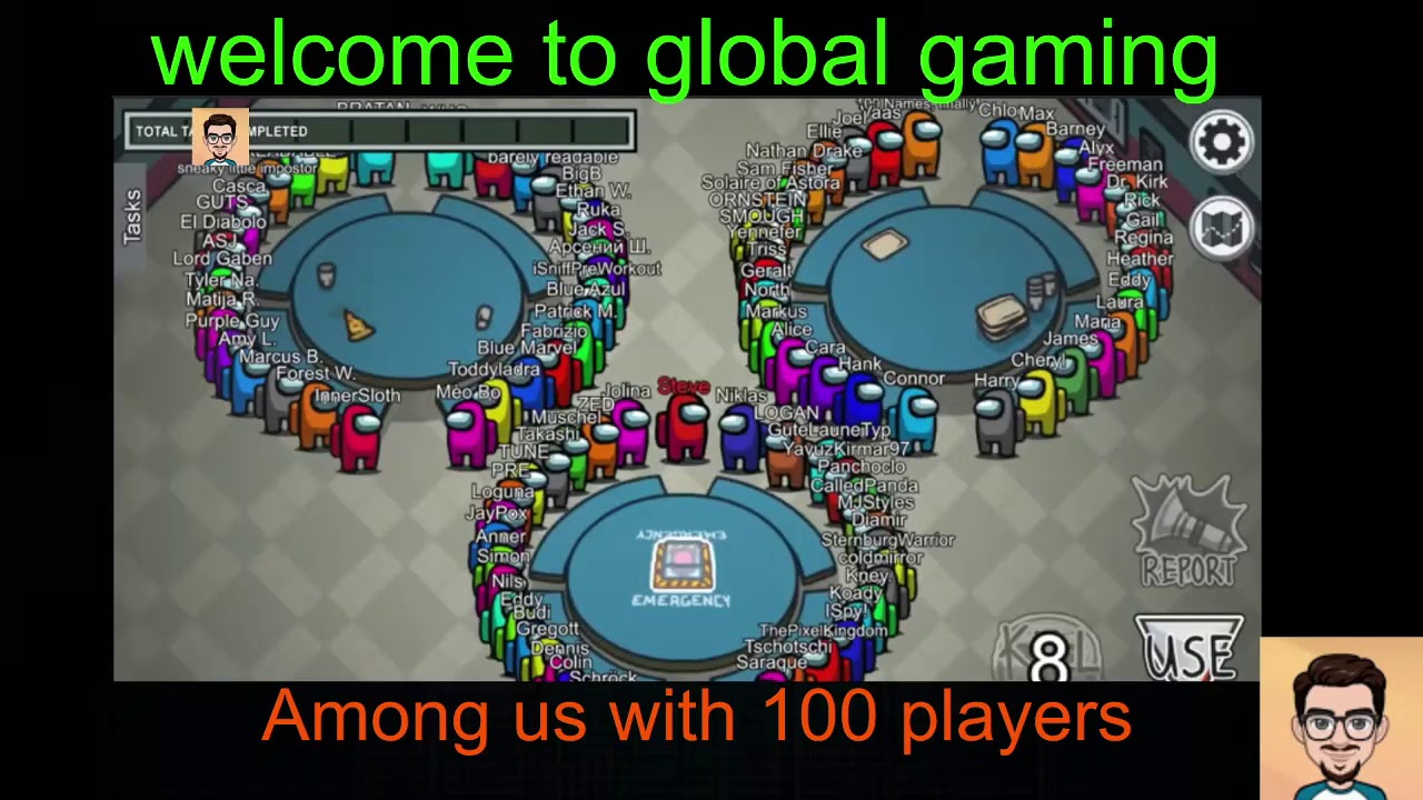 Among Us With 108 Players Biggest Match Ever Seen In Among Us History Youtube