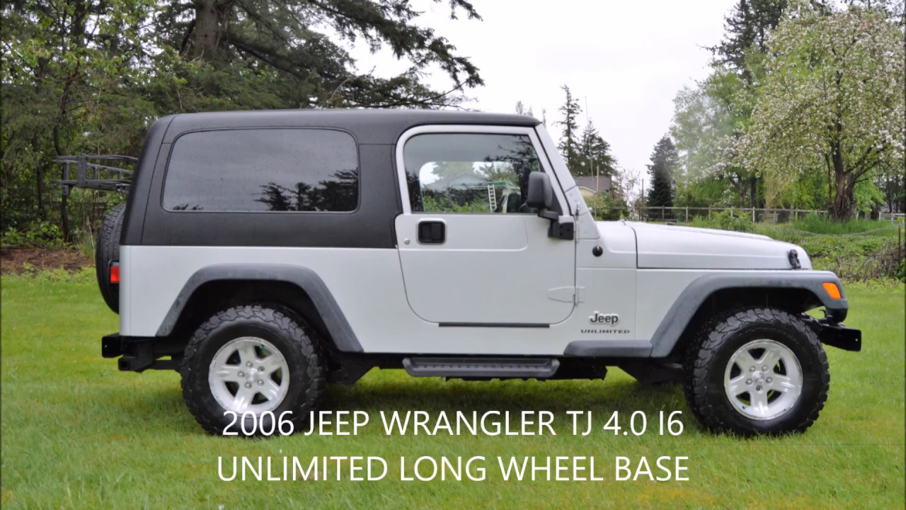 2006 jeep wrangler unlimited tj hard top long wheelbase 4 0l i6 youtube. Black Bedroom Furniture Sets. Home Design Ideas