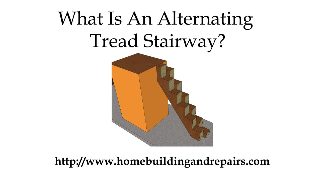 Alternating Tread Stairway Designs Can Fit In Smaller Spaces Youtube   Wood Alternating Tread Stair   Modern Staircase   Stair Case   Thomas Jefferson   Spiral Staircase   Tread Depth