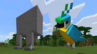 Building a Statue of my Dead Minecraft Bird