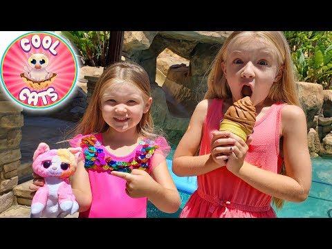 Opening Cool Cats Ice Cream Flip Plush Toys!