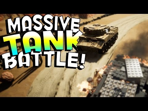 Brick Rigs Game | MASSIVE TANK BATTLES! | Lets Play Brick Rigs OnlineGameplay & Highlights