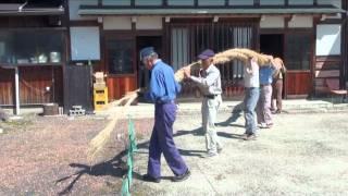 瑞浪市 大湫町 神明神社 大杉 しめ縄の掛け替え 2010-09-25