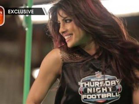 BTS: Priyanka Shoots Thursday Night Football Open