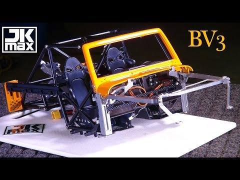 RC ADVENTURES - NEW 2018 Super Scale JK MAX - CAPO 1/8 Trail JEEP - BV3 - LiT INTERiOR & REAR AXLE