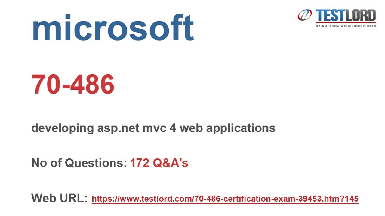 Download Microsoft 70 486 Test Practice Questions Answers Dumps