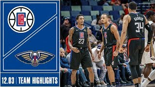 Clippers at Pelicans Game Highlights | 12/3