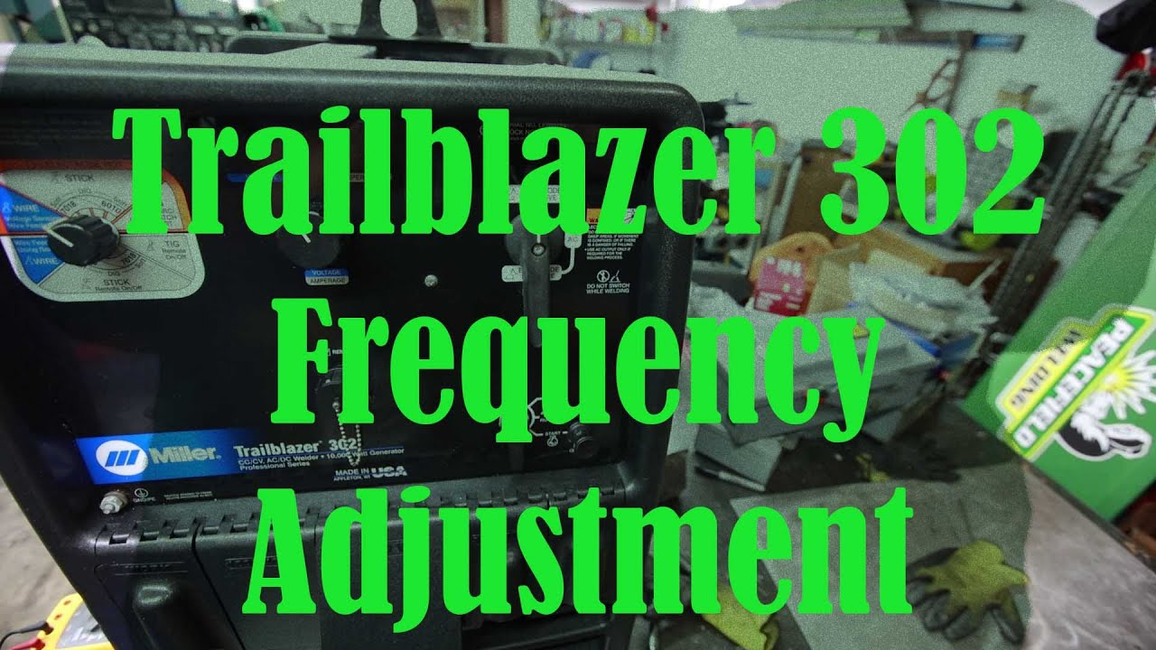 Trailblazer 302 Frequency Adjustment With A Kohler Ch20 Youtube