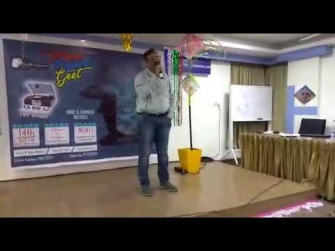 Praveen Urs January 14, 2018 Karaoke performance.