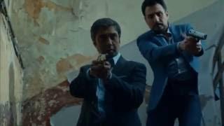 مقطع اكشن مراد علمدار وجاهد يهجمون على مكتب الظل - وادي الذئاب الجزء العاشر HD KVP