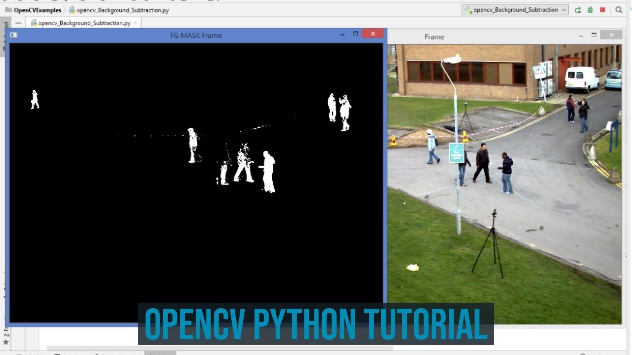 OpenCV Python Tutorial For Beginners 39 - How to Use Background Subtraction  Methods in OpenCV