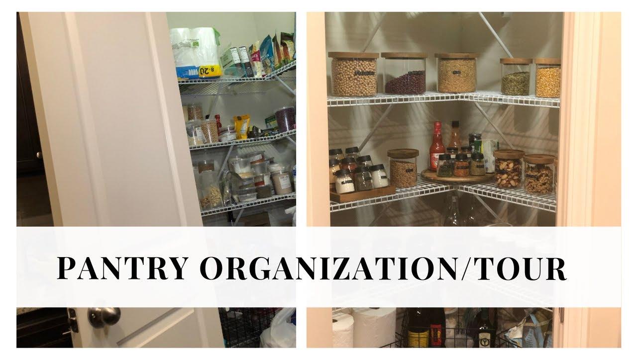 Pantry Organization Tour Ikea Target Container Store Storage Youtube