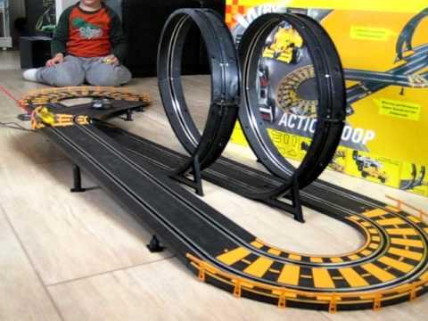 carrera car racing action loop youtube